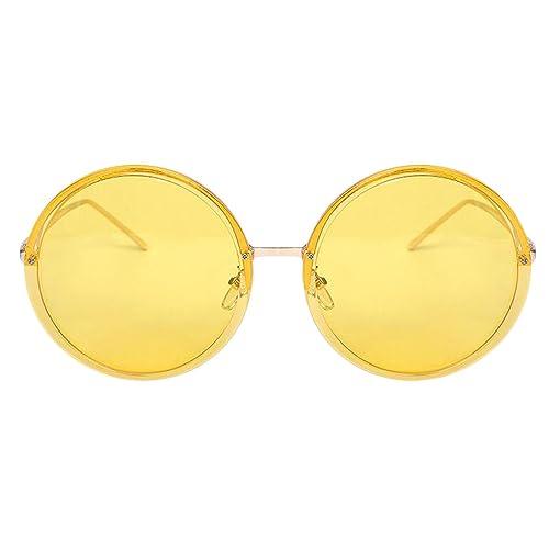 Moda Redondo Grande Clásico Retro Simple Gafas De Varios Colores Opcionales
