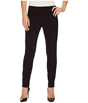 5d13ccdd0e43b2 Elliott Lauren Women's Control Stretch Pull-On Ankle Pants With Back Slit  Detail Black 2