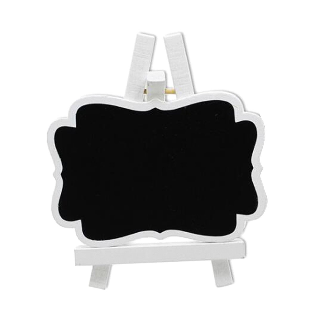10 Pcs Wooden Home Bracket Mini Small Blackboard with White Wooden Easel - Crafts Wedding Party and Daily Home Decoration Commercial Tabletop Signs Chalkboards Message Board Prop Decoration (Large)