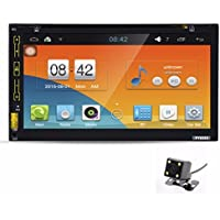 Morrivoe 7HD Bluetooth Touch Screen Car GPS Stereo Radio Android 5.1 Stereo With Rear Parking Camera Car DVD PC Player GPS Navi In Dash Navigation Headunit Video Player MP3/MP4/GPS/USB/FM/AM