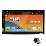 "Morrivoe 7""HD Bluetooth Touch Screen Car GPS Stereo Radio Android 5.1 Stereo With Rear"