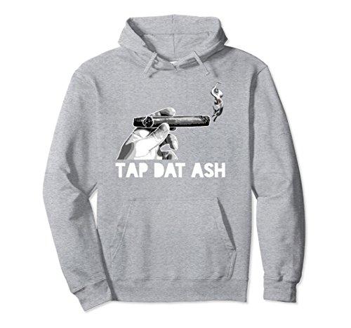 Unisex Tap Dat Ash | Cigar Appreciation Hoodie Hooded Sweatshirt Large Heather - Sweatshirt Ash Grey
