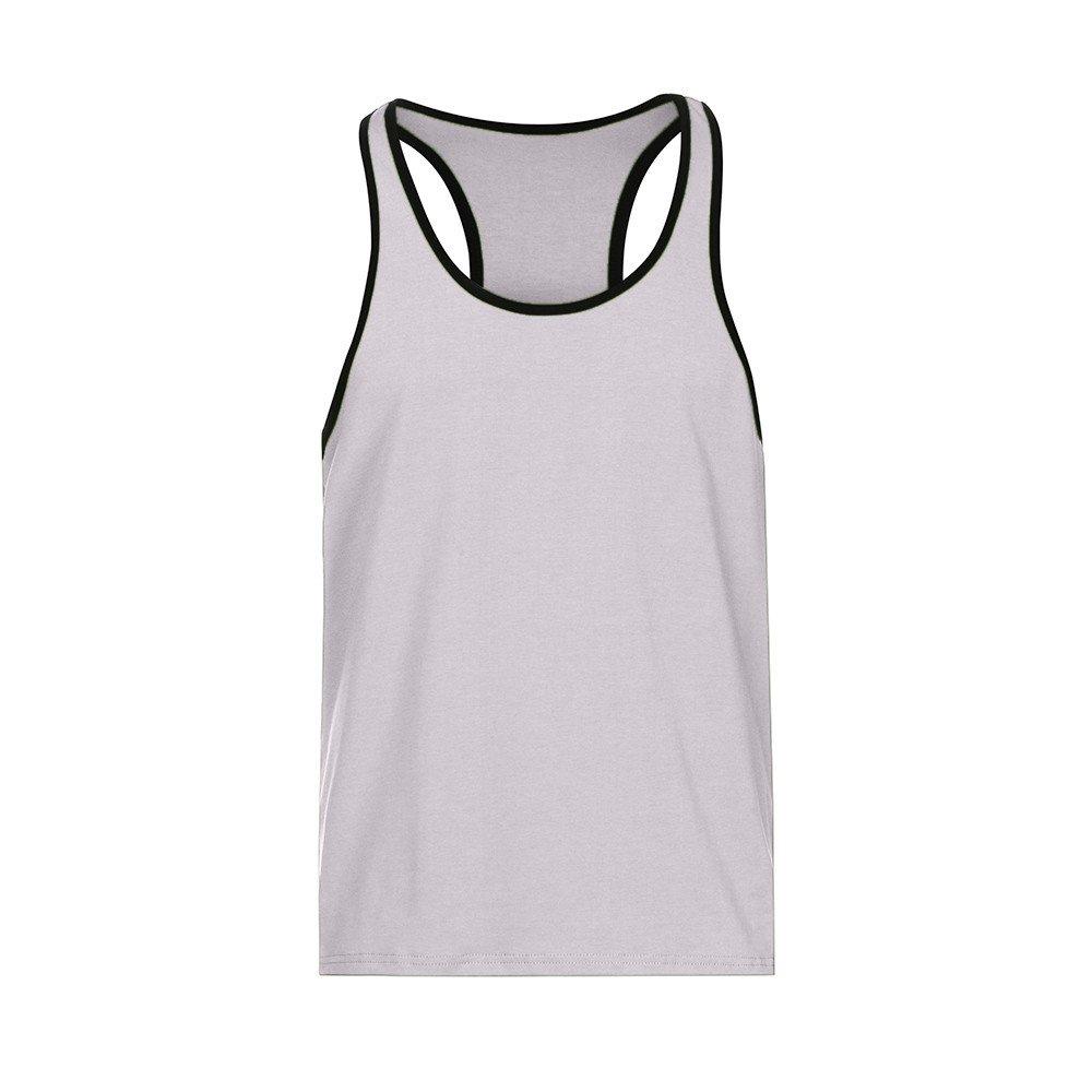 KIKOY Casual Cozy Men's Solid Gym Tank Top Vest Singlet Sport Sleeveless Shirt by Kikoy mens tops (Image #4)