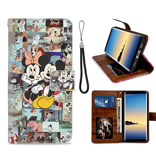 Disney Series Wallpaper Leather Folio Flip Case Compatible with Samsung Galaxy Note 8 (6.3inch) Good Looking