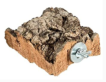 Gitter-Gest/änge 40-teilig F/ür Vogelk/äfig und Voliere geeignet Kork-Deko Befestigungsset zum Selbstbau von Sitzstangen // -Brettchen aus Edelstahl f/ür V/ögel zur Befestigung am K/äfig