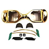Hoverboard Gold Chrome Best Deals - Segmart 6.5 '' Two Wheel Metallic Color Hover Board Electric Self Balancing Chrome Scooter Outer Shell Replacement DIY (Chrome Gold)