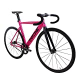BICYCLE COMPLETE THRONE TRACK LORD FIXIE BIKE PINK SIZE:49