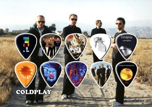 Coldplay Premium Celluloid M/édiators Display Tribute