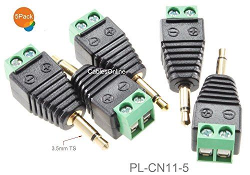 CablesOnline 5-Pack 3.5mm (1/8