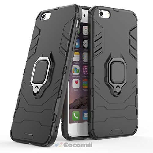 Cocomii Black Panther Armor iPhone 6S Plus/6 Plus Case New [Heavy Duty] Tactical Metal Ring Grip Kickstand [Works with Magnetic Car Mount] Cover for Apple iPhone 6S Plus/6 Plus (B.Jet ()
