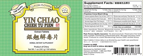 Plum Flower Yin Chiao Chieh Tu Extract, 100 Tablets (2-Pack)