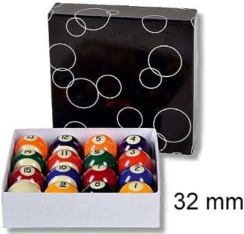 Set de bolas de billar (32 mm): Amazon.es: Deportes y aire libre