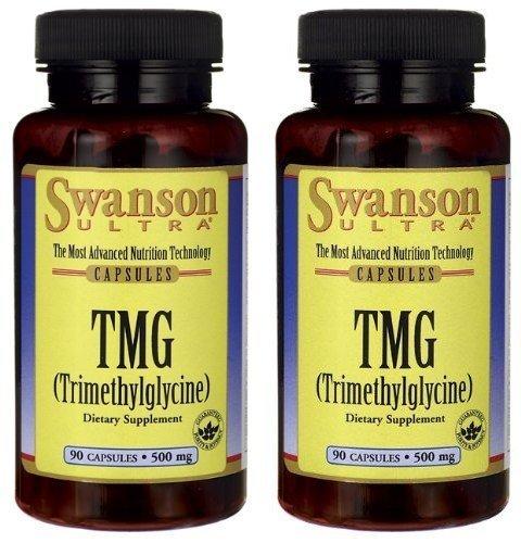 Swanson Ultra TMG (Trimethylglycine) 500mg -- 2 Bottles each of 90 Capsules