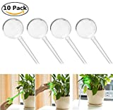2 Trays Printer - Automatic Watering Bulbs, OWIKAR 10 Pack Aqua Globes Small Plant Automatic Self Watering PVC Bulbs Ball Garden Waterer Self Irrigate Device for Indoor Outdoor (S / Transparent)