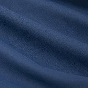 """TILLYOU Microfiber Silky Soft Crib Sheet Navy, Hypoallergenic Breathable Fitted Toddler Mattress Sheets, 28″x 52″x 8"""" Baby Sheet for Boys Girls, Navy Blue"""
