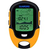 SUNROAD Anself FR500Multi-Function LCD Digital Altimeter Barometer Compass Thermometer Hygrometer Weather Forecast LED Torch–One size