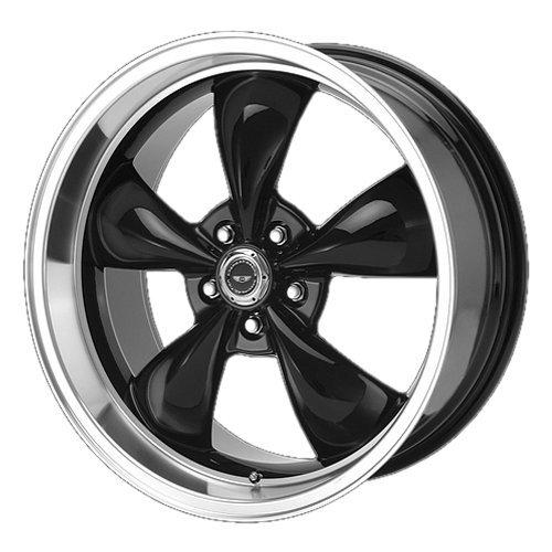 (American Racing Custom Wheels AR105 Torq Thrust M Gloss Black Wheel With Machined Lip (17x9