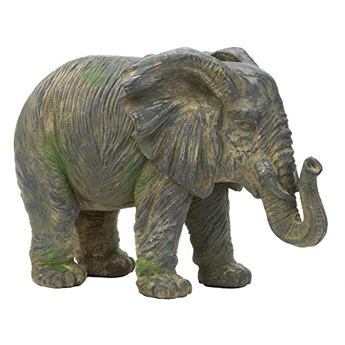 Accent Plus Weathered Elephant Statue (Garden Accent Statue)