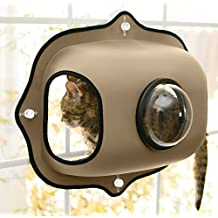 K&H Manufacturing EZ Mount Window Bubble Pod, Tan