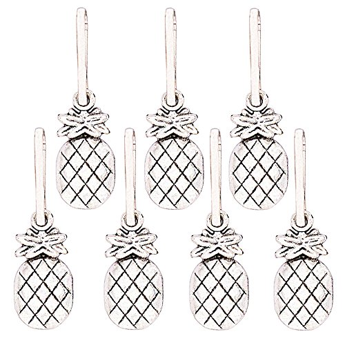 Zipper Pull Craft Charm - Ascrafter Alloy Pineapple Zipper Pulls Charms for Jacket, Purses, Backpack, 7 Pack