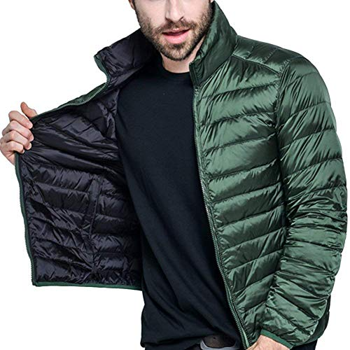 Winter Winter Winter Winter Winter Coat Autunno Emmay Urtra Collar Jacket Piumino Ragazzi Parka Warm Quilted Winter Double Light Side Stand Uomo Coat Jacket Essenziale Jacket Verde Giacca da gw1arqRg
