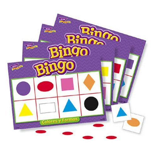 Trend Micro Bingo de Colores y Formas (Spanish Colors & Shapes) Bingo by Trend Enterprises Inc