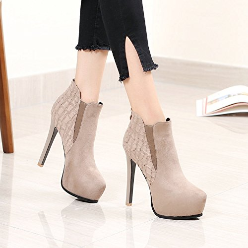 KHSKX Shoes All Boots Fine Winter Waterproof Boots In With Pointed Ankle High Autumn Heeled Super Nude Match Martin 13Cm 38 Camel And rXwZqgWr