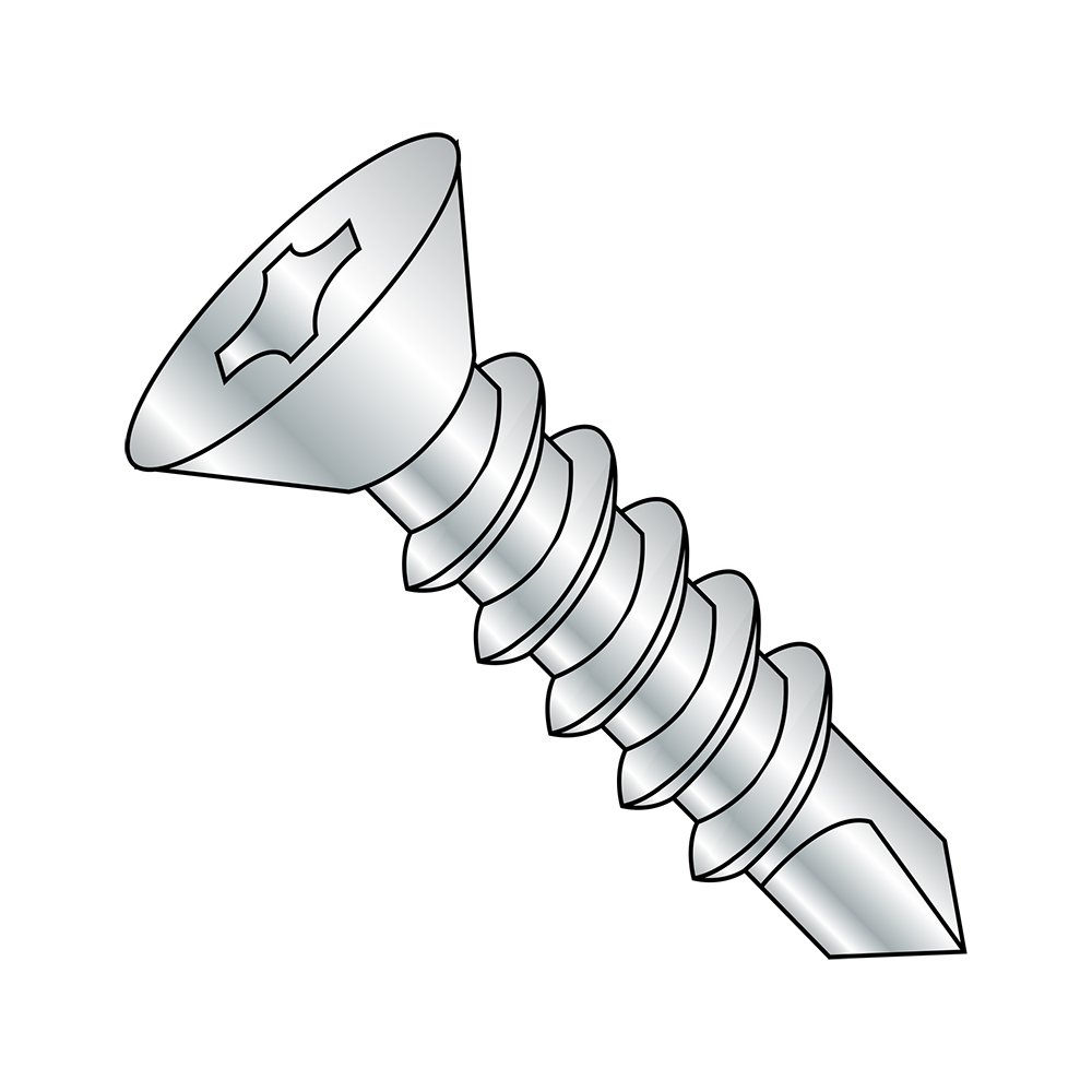 5//8 Length Pack of 10000 82 Degree Flat Head 5//8 Length Zinc Plated Finish Small Parts 0410KPF #2 Drill Point #4-24 Thread Size Steel Self-Drilling Screw Pack of 10000 Phillips Drive