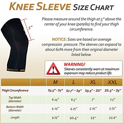 515058d701 Roludom Copper Knee Brace - Both Women & Men - Compression Fit Support & GUARANTEED  Recovery Sleeve - 88% top quality copper content - PROTECT your muscles ...