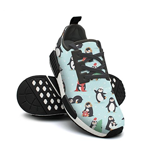 Christmas Womens Penguins Mesh Colorful Lovely Sneakers Fashion Sneakers FAAERD Lightweight Breathable wq1zIEnn