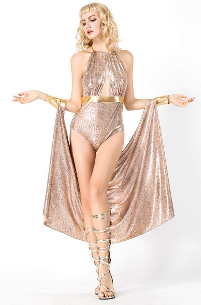 Hxp Nightclub Sexy Leopard Greek Goddess Cosplay Siamese Costume Christmas Bar Female Singer Collar Dance Costume