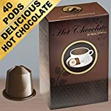 Hot Chocolate for Nespresso. Creamy & Sweet. 40 Compatible Pods