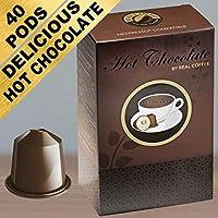 Chocolat Chaud pour Nespresso. Doux & Crémeux. 40 Capsules.
