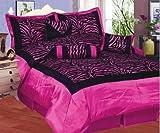 Jody Clarke 5PC Hot Pink Zebra Print Comforter Set Bedding cover Bed Décor Ultra Soft Avilabale in Twin Size
