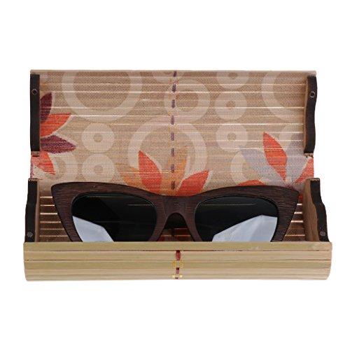 UV gris 400 boîte Homyl de Lunette Cadre Boîte Homme en Femme Protection Soleil Cadeau Lunette Bois 7q1f74