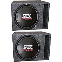 2) MTX TN12-02 12 400 Watt Car Audio Subwoofers + Vented Ported Box Enclosures