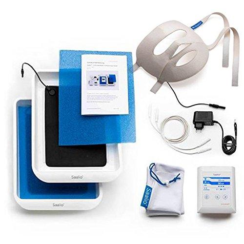 Saalio® FA Set - Iontophoresegerät gegen Schwitzen im Gesicht sowie an den Händen und Füßen, Puls- & Gleichstrom (Neuentwicklung 2015/2016, made in Germany, Iontophorese)