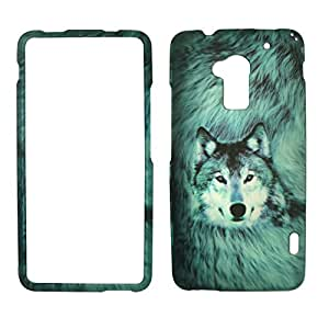 2D Snow Wolf HTC one Max T6 Sprint Verizon Case Cover Phone Snap on Cover Case Faceplates