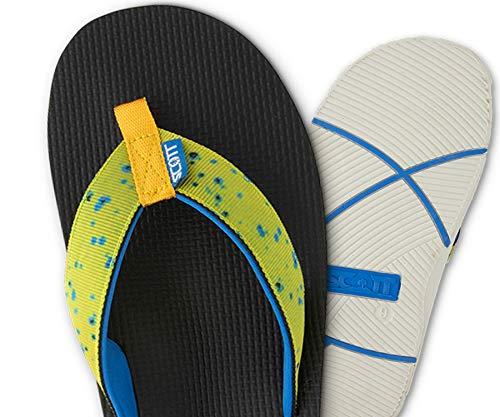 Scott Hawaii Men's Makaha Sandals | Size 8 Mahi Skin Flip-Flops | Neoprene Lining | No Slip Outsole (Best Mens Jeans Brands 2019)