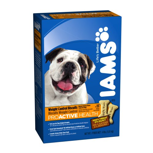 Biscuits 4lb Box (IAMS PROACTIVE HEALTH Adult Dog Weight Control Biscuits 4 Pounds (Pack of)