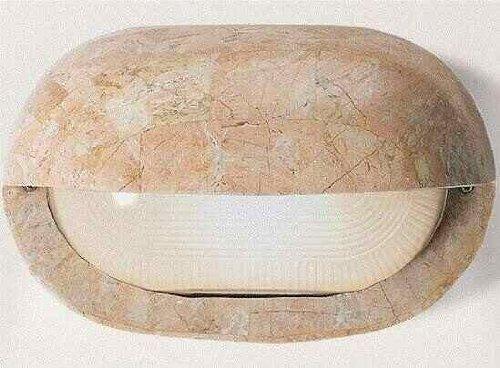 Lampada applique in pietra naturale lavorata a mano murobello rosa