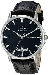 Edox Men's 83015 3 NIN Les Bemonts Swiss Automatic Black Watch