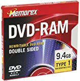 Memorex 9.4GB Double-Sided DVD-RAM (Single) (Discontinued by Manufacturer)