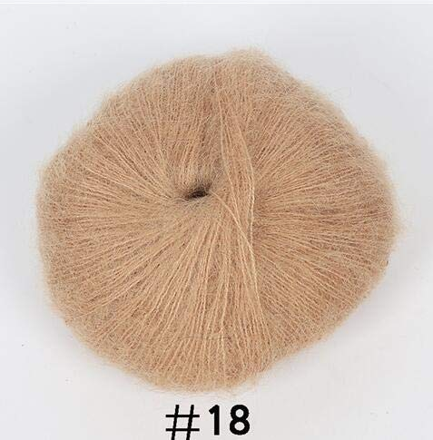 Knitting Yarn - - 25g / Ball Angola Amorous Feelings Thin Mohair Wool Yarn Plush Fine Wool Crochet Hand Knitting