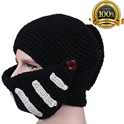 a965eff133b3b Warm Hats Knit Caps Ears Knight Roman Helmet Earflap Woven Fall Winter Men  Women