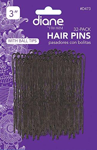 """Diane 3"""" Hair Pins, Black, 32/card"""