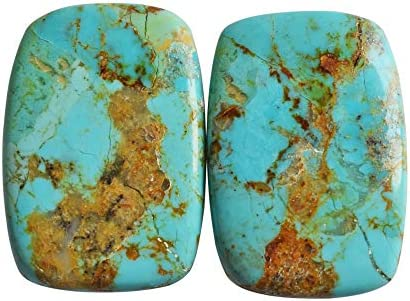 13Carats Pair Turquoise 13x17mm Loose Cabs Turquoise Gemstone Oval Cabochon Pair Natural AAA Turquoise Semi Precious Gemstone Cabochon