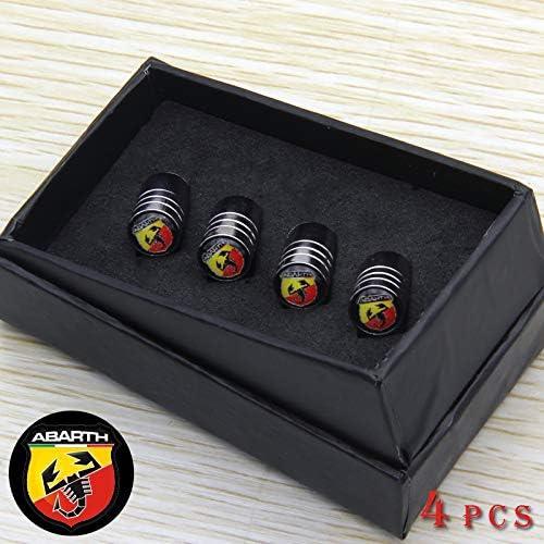 RacePace Deluxe Lot de 4 Bouchons de Valve Anti-poussi/ère Noir 500 Panda Bravo 124 Spider 595.