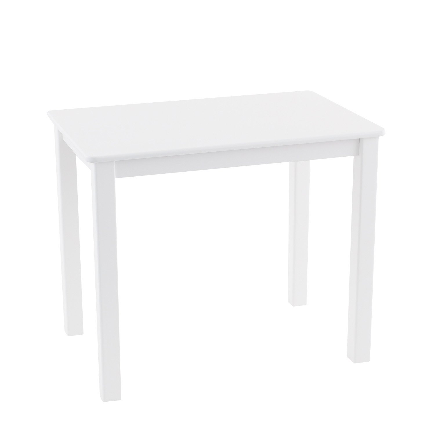 Max & Lily Natural Wood Kid and Toddler Rectangular Table, White