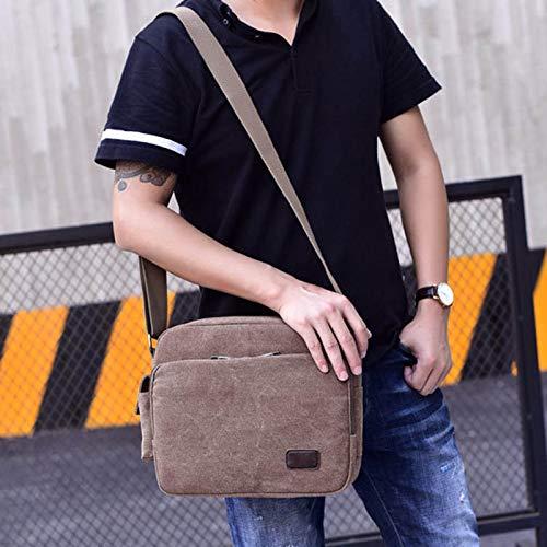 Zipper Shoulder Men Canvas Travel Bags Crossbody Adjustable Crewell Bag Women Messenger Coffee Strap Casual InqFP